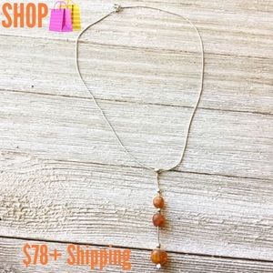 Vintage amber sterling silver necklace